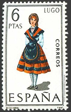 Collection of Spanish stamps: 1969 Lugo Postage Stamp Design, Spanish Posters, Celtic Nations, Postage Stamp Collection, First Day Covers, Love Stamps, Vintage Stamps, Stamp Collecting, My Stamp