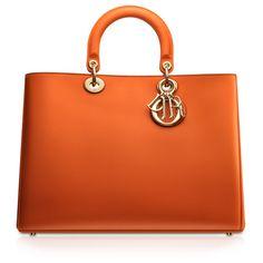 "DIORISSIMO Black leather ""Diorissimo"" bag ❤ liked on Polyvore"