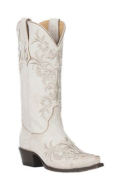 034906fb1e496 by Old Gringo Women s Taupe with White Embroidery Western Snip Toe Boots.  Cavender s