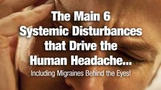 The Main 6 Systemic Disturbances that Drive the Human Headache, including Migraines Behind the Eyes! - NaturalNews.com