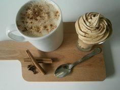 Creme espuma de café, para misturar no leite. Delicioso!! Coffee cream froth to mix with milk. Delicious!! Receita em www.pimentadoce.net