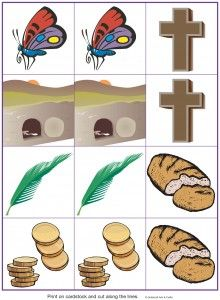Easter matching game from Guildcraft Arts & Crafts