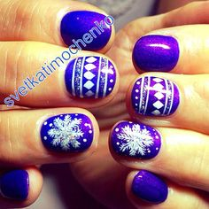 snowflakes by nails_svetkatimochenko #nail #nails #nailart