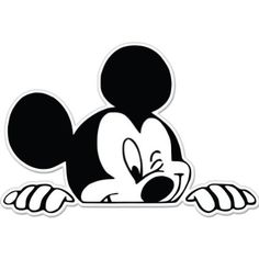 "Amazon.com: Mickey Mouse Wink Peeking Car Sticker Decal 5"": Automotive"