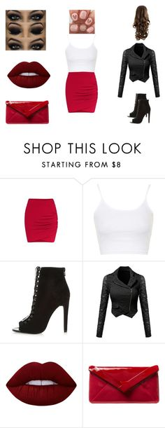 """""""Love"""" by little-stylist ❤ liked on Polyvore featuring Topshop, Lime Crime and L.K.Bennett"""