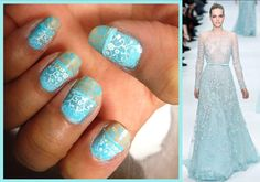 Elie Saab Inspired Nail Art with Tutorial! #nailart
