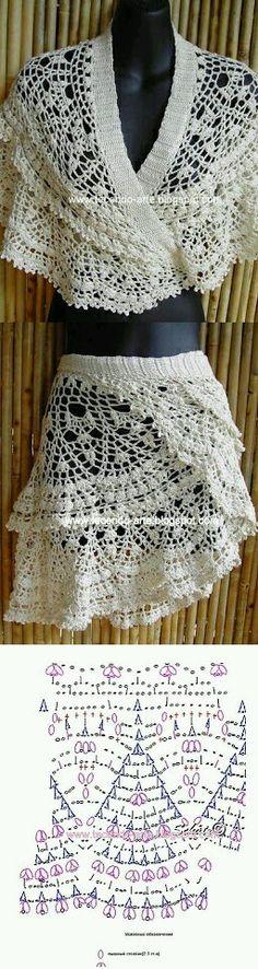 Mi baúl de Inspiraciones : Faldas de verano tejidas en crochet
