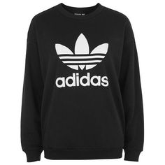Trefoil Sweatshirt by Adidas Original ($56) ❤ liked on Polyvore featuring tops, hoodies, sweatshirts, sweaters, urban sweatshirts, adidas trefoil sweatshirt, adidas top, adidas sweatshirt and cotton sweatshirts