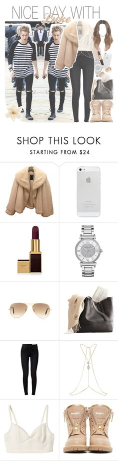 """""""nice day with luke"""" by fangirlsets ❤ liked on Polyvore featuring Christian Dior, Tom Ford, Michael Kors, Ray-Ban, rag & bone, River Island, Balmain and Clips"""