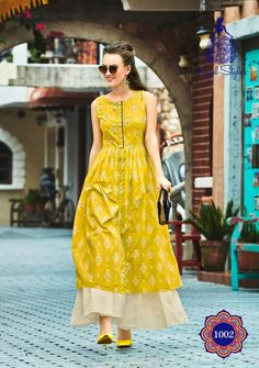 Much needed long summer dresses . Kindly PreBook Details Fabrics Heavy Reyon 14 Much needed long summer dresses . Kindly PreBook Details Fabrics Heavy Reyon 14 kg Cotton Embroidery work . Size Length > 52 To 54 No exchange No Returns . Simple Kurti Designs, Kurti Neck Designs, Kurta Designs Women, Kurti Designs Party Wear, Printed Kurti Designs, Casual Indian Fashion, Indian Fashion Dresses, Indian Designer Outfits, Fashion Outfits