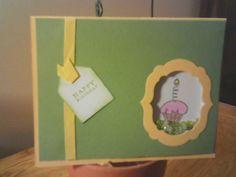 August 2015 card swap. Theme Shaker card. Created by Joyce Almony.