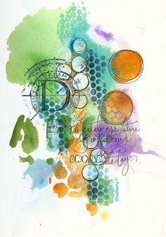 Art du Jour by Martha Lever: Graffiti of my Life/www.fr Florence F… Art of the Day by Martha Lever: Graffiti Mixed Media Journal, Mixed Media Collage, Mixed Media Canvas, Collage Art, Art Journal Pages, Art Journals, Journal Prompts, Art Journal Backgrounds, Kunstjournal Inspiration