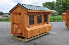 Amish Built Garages, Garden Sheds, Utility Buildings, & Small Barns in Lancaster, PA-coop Amish Chicken, Chicken Home, Clean Chicken, Walk In Chicken Coop, Chicken Coop Plans, Chicken Coops, Chicken Coop Designs, Mobile Chicken Coop, Small Barns
