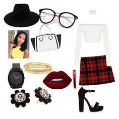 """Untitled #57"" by tytiana-ransom on Polyvore featuring Furla, rag & bone, Kate Spade and Lime Crime"