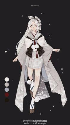 Character Concept, Character Art, Concept Art, Anime Oc, Kawaii Anime, Cute Characters, Anime Characters, Florence Academy Of Art, Yuki Onna