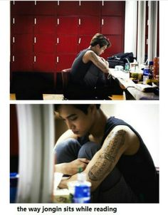 He's in the moment guys, reading every word, and feeling it. Let's give him some peace. <3 #Kai