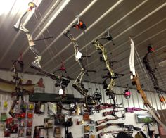 Archery Archery, Track Lighting, Hunting, Ceiling Lights, Home Decor, Homemade Home Decor, Ceiling Light Fixtures, Ceiling Lamp, Outdoor Ceiling Lights