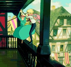 Howl's Moving Castle gif. Forget Peeta and Rory. Howl ruined guys for me.