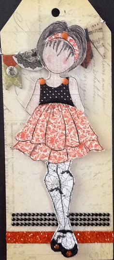 Happy Halloween pinned by pinner                Wendy Schultz - Prima Doll Stamps.