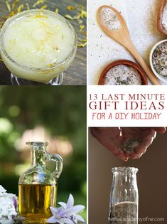 13 Last Minute Gift Ideas to Make at Home - Using Herbs!  ***And there are lots and lots of suggestions on where else to go for more gift ideas!!!***