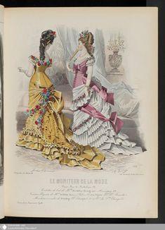1878 Fashion Plates and Ephemera! Victorian Era Fashion, 1870s Fashion, Ol Fashion, Europe Fashion, Fashion History, Retro Fashion, Vintage Fashion, Vintage Gowns, Mode Vintage
