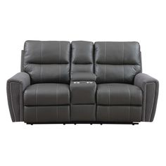 This rich leather and microfiber loveseat takes an elegant, fashionable approach to contemporary design. Clean lines and power motion combine for the best of style and functionality.