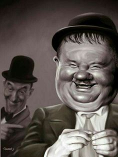 Stan Laurel et Oliver Hardy Laurel And Hardy, Stan Laurel Oliver Hardy, Cartoon Faces, Funny Faces, Cartoon Art, Funny Caricatures, Celebrity Caricatures, Caricature Drawing, Famous Cartoons