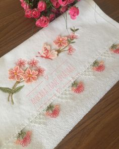 Decorative Towels, Needlework, Diy And Crafts, Wallpaper, Instagram, Herbs, Embroidery, Sewing, Handarbeit