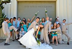 The Funny thing is, this is my best friends wedding and i am in the back center. random find on Pinterest lol