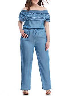 0b2677100e327 ... Sleeveless Bell Bottom Jean Jumpsuit - Blue Denim