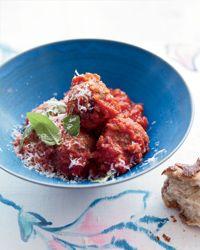 "Eggplant & Porcini ""Meatballs"" in Tomato Sauce | Food & Wine."