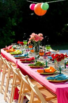 love this look for the table- are we thinking one long table as opposed to 2?