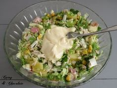 Ensalada hawaiana de pollo con mayonesa - Easy chicken salad with mayonnaise