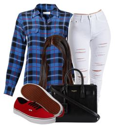 """""""."""" by trillest-queen ❤ liked on Polyvore featuring Equipment, Yves Saint Laurent and Vans"""