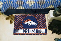"Denver Broncos World's Best Mom Starter Area Rug Floor Mat 20"""" X 30"""""