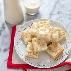 """At this time of year when we're all looking for some special sweet treat to share in goodie bags or on holiday tables. So, I give you these creamy eggnog crumb bars. They combine two of the best things about the season into one awesome dessert."" - Annie from Annie's Eats"