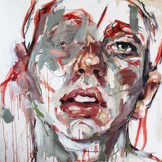 Found Inspiration Moving Forward — mydarkenedeyes: Elly Smallwood L'art Du Portrait, Abstract Portrait, Portraits, Elly Smallwood, Art Et Design, A Level Art, Contemporary Abstract Art, High Art, Medium Art