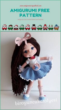 30 Amigurumi Crochet Doll Toys Free Patterns (With images ... | 424x236