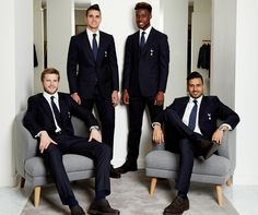 Eric Dier, Erik Lamela, Josh Onomah and Nacer Chadli at our customer signing event at our London Westfield store in April 2016.