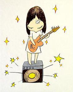 """Yoshitomo Nara, """"Guitar Girl"""" (2003)"""