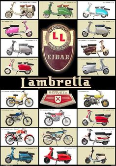 The Great Charm of Vintage Cars - Popular Vintage Moto Scooter, Lambretta Scooter, Vespa Motor Scooters, Side Car, Italian Scooter, Old Bikes, Mini Bike, Classic Bikes, Vintage Motorcycles