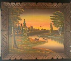 Vintage Wall Decor Jake Overbeek Landscape Oil Painting Leota MN art deer - Deer Paintings #deer #deerpaintings -  $79.99 End Date: Wednesday Apr-17-2019 17:52:32 PDT Buy It Now for only: $79.99 Buy It Now | Add to watch list Deer Paintings, Vintage Cabin, Vintage Walls, Wednesday, Wildlife, Wall Decor, Oil, Landscape, Watch