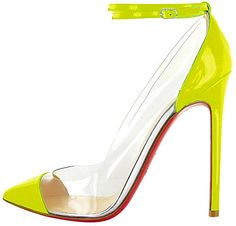 neon ankle strap seriously love this - Louboutin