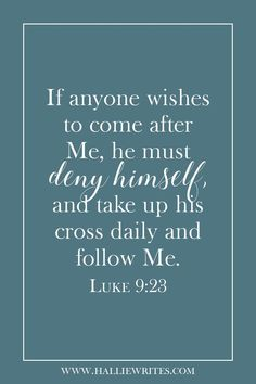 If we want to follow Jesus, we have to go where He goes - and His path leads to Calvary's hill. But if we choose not to, we are going to lose everything anyway.