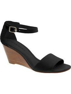 Banana Republic #black #wedge #shoes