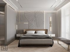 DE&DE/Eclecticism in the heart of Saint-Petersburg on Behance Luxury Bedroom Design, Modern Home Interior Design, Home Room Design, Master Bedroom Design, Luxury Home Decor, Luxury Interior, Modern Classic Bedroom, Contemporary Bedroom, Luxurious Bedrooms