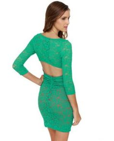 Sexy Lace Dress - Teal Dress - $39.00 at Lulus.
