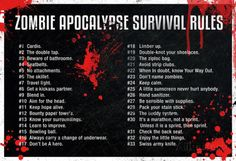 Zombie Apocalypse Survival Rules Posters at AllPosters.com