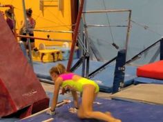 Hand stand flop for bars - YouTube