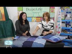Tecnica Rag Quilt :Claudia Patchwork pie de cama para Dia del Padre!!! - YouTube